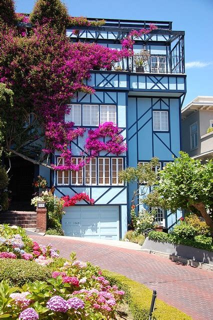 lombard street houses blue house on lombard street san francisco places spaces pinterest beautiful