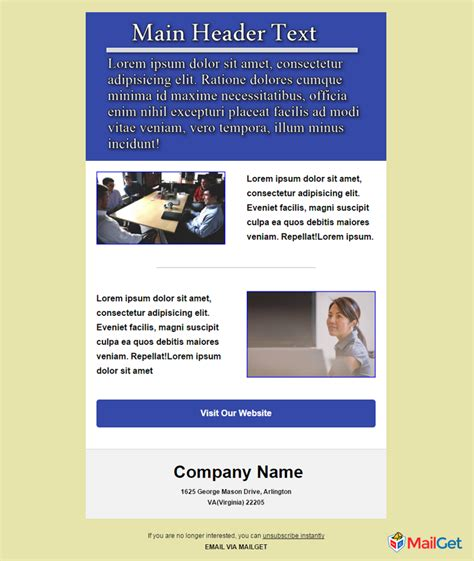 10 Free Best Business Email Templates Mailget Free Email Templates For Business