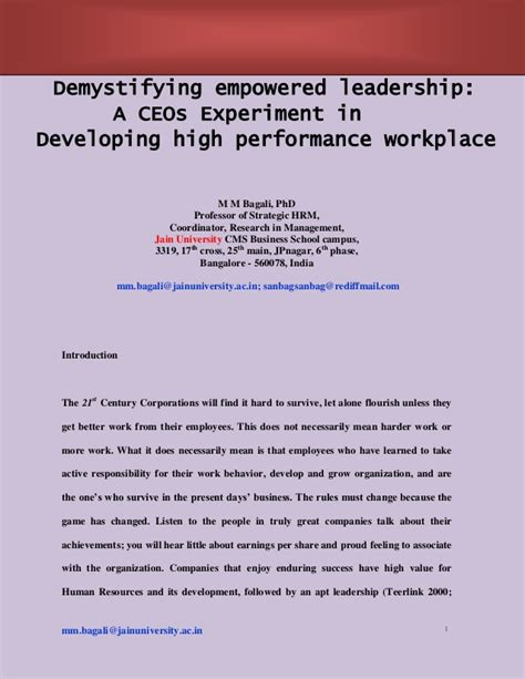 Hrm Thesis Topics For Mba by Mm Bagali Phd Hr Hrd Hrm Empower Phd Research