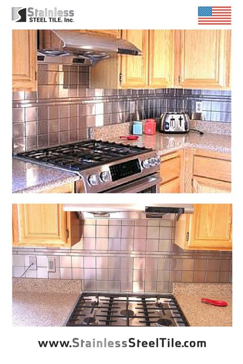 stainless steel tile backsplash modern metal tiles