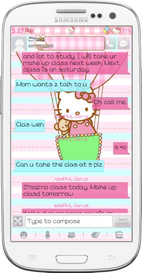 go sms themes hello kitty black pretty droid themes hello kitty amusement park go sms