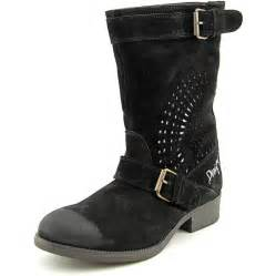 desigual malva suede black mid calf boot boots