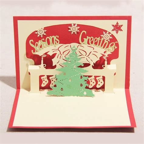 diy new year pop up card diy 3d handmade pop up greeting cards paper card cutout