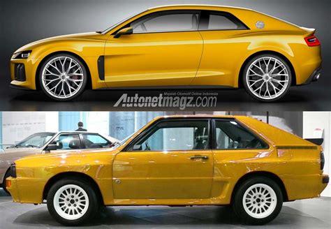 Audi Quattro Neu by New Audi Sport Quattro Concept And Old Quattro