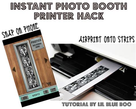 Printer Photo Booth instant photo booth printer hack
