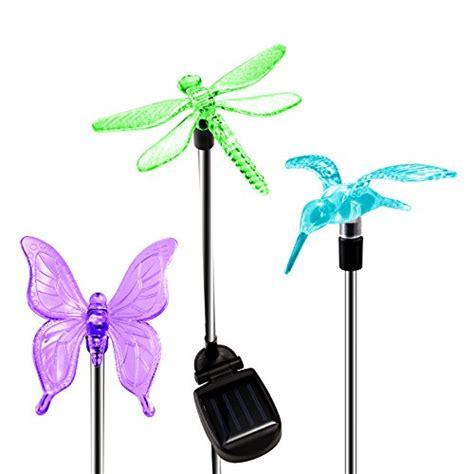 Oxyled Solar Garden Lights Hummingbird Butterfly Dragonfly Solar Stake Light