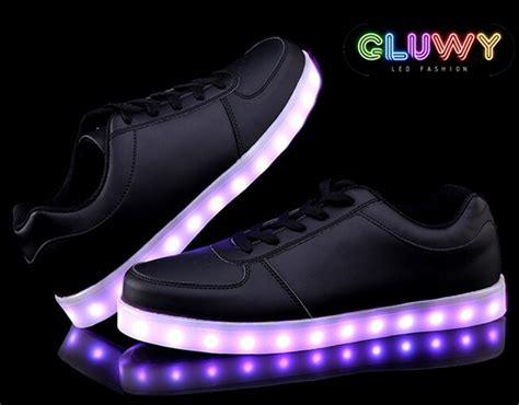 Led Shoes Black led shoe lights black cool mania