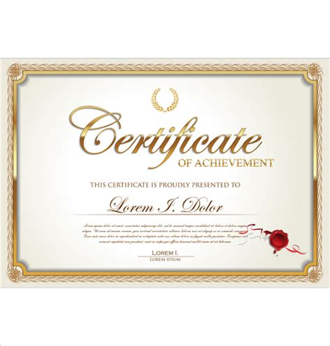 Ai Certificate Template exquisite certificate frames with template vector 02