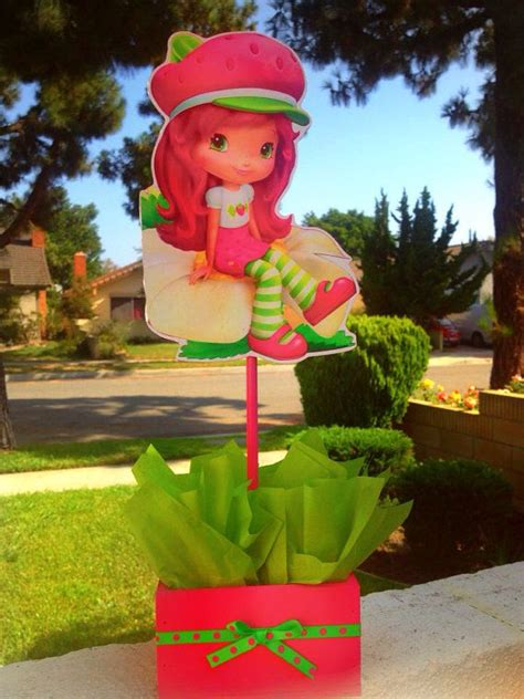 strawberry shortcake wood centerpiece for birthday or any