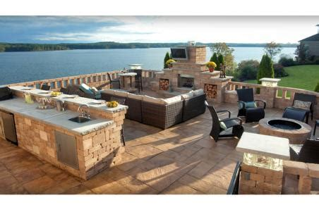 outdoor kitchen and fireplace fireplace outdoor kitchen and seating basalite