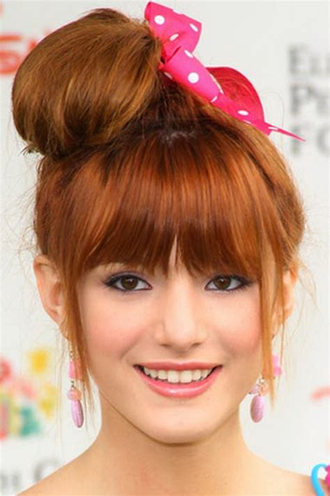 cute hairstyles in a bun cute messy bun hairstyles 2013 fashion trends styles for