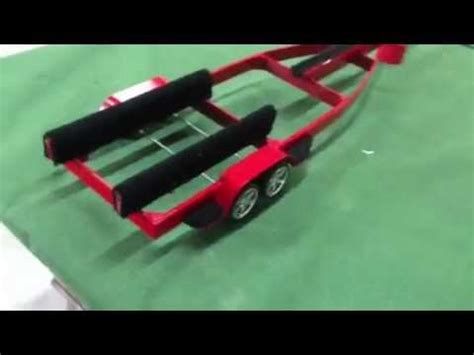 rc boat trailer for catamaran rc boat trailer youtube