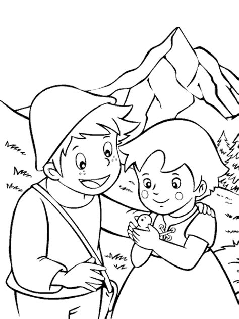 dessins de coloriage heidi en ligne  imprimer