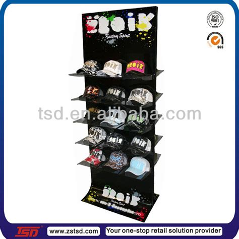 tsd w736 wholesale floor hat display rack for retail store