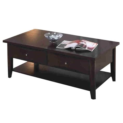 coaster whitehall coffee table w th shelf and drawers in