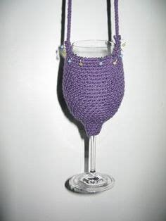 crochet pattern wine glass holder 1000 images about crochet wine glass cosy patterns on