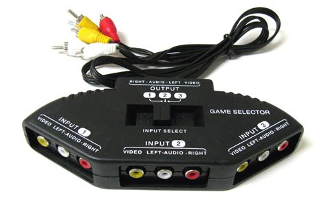 splitters switches composite av rca to hdmi 3 way audio video av rca black switch selector box
