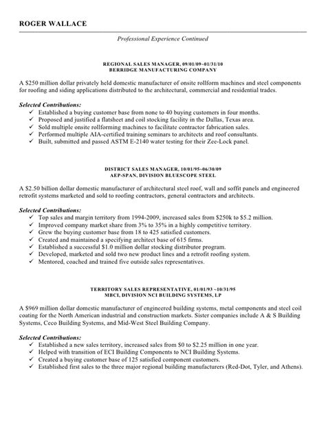 Roofing Resume Sles by Roger Wallace Resume Jan2012