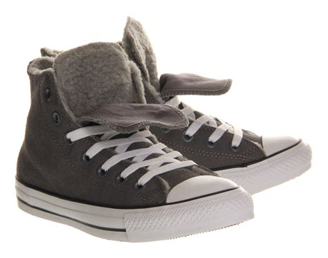 Converse Hi Gray converse all hi tongue in gray for grey