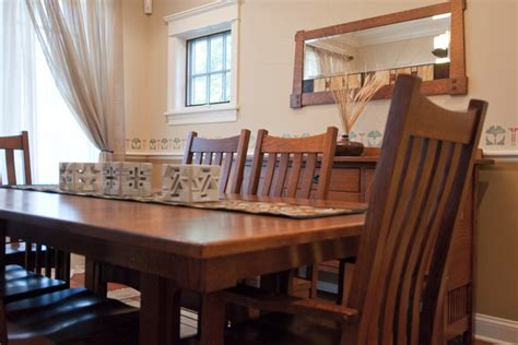 Craftsman Dining Room Table Bellingham Table And Chairs Craftsman Dining Room Chicago By Plain And Simple