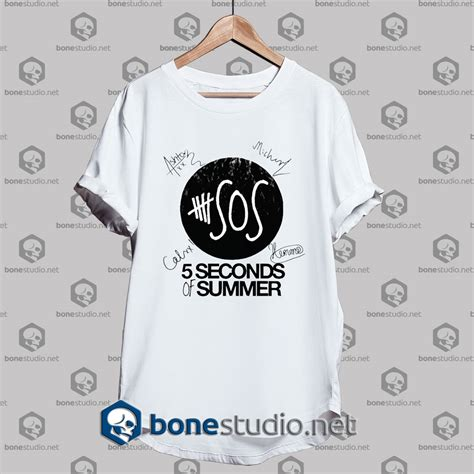 Tshirt 5 Second Of Summer 6 5 seconds of summer members signature tshirt tshirt unisex