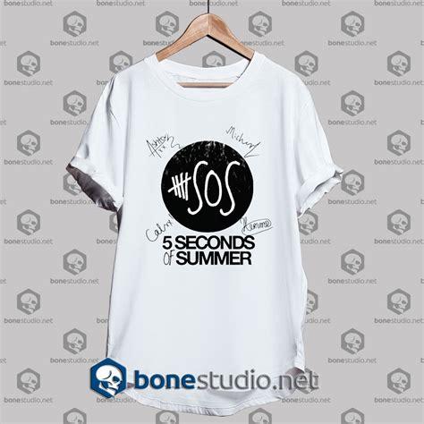 Tshirt 5 Second Of Summer 6 5 seconds of summer members signature tshirt tshirt