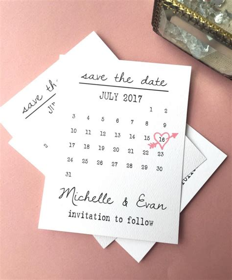 The Date Calendar Card Free Template by Calendar Save The Date Cards Date Save The Date