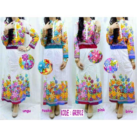 Maxi Dress Katun Bangkok supplier maxi dress www outletbusanamuslim