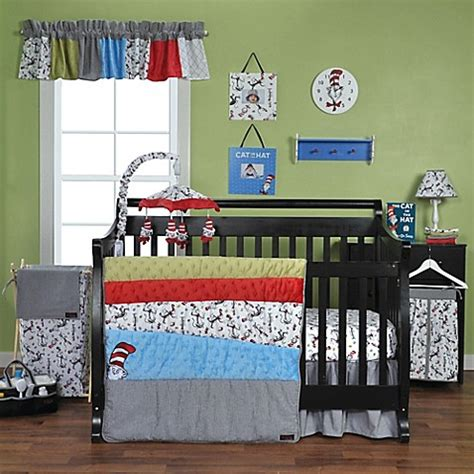 Trend Lab 174 Dr Seuss Cat In The Hat Crib Bedding Dr Seuss Crib Bedding