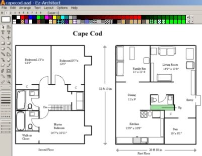 free architect drawing software ez architect for windows 7 and 8 and 10 and vista