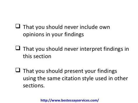 findings section of dissertation how to present dissertation findings