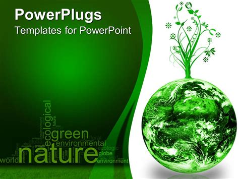 ppt templates free download green earth powerpoint template green and white earth planet with
