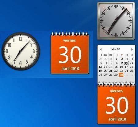 Calendario De Windows 7 Gadgets Para Windows 7 Los Apuntes Inform 225 Tico