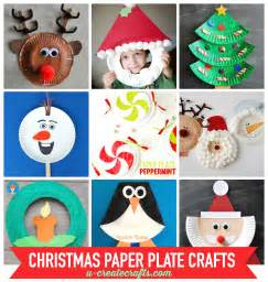 Holiday Paper Crafts For Kids - paper plate christmas crafts u create