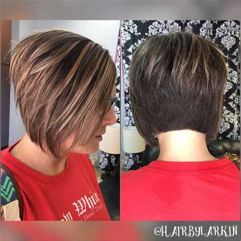 fab new haircuts short bob hairstyles with caramel highlights hairstyles
