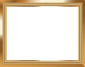 Home Decor Yellow Gold Transparent Frame Png Image Gallery Yopriceville