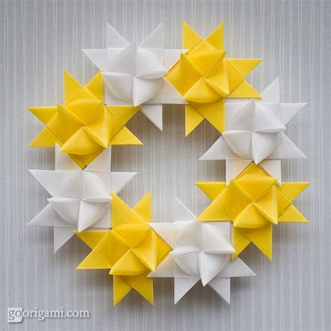 modular origami wreath froebel as decoration go origami