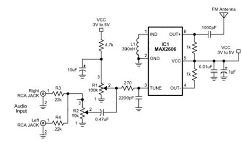 single transistor fm transmitter circuit diagram small single chip fm transmitter circuit schematic diagram electronik computer