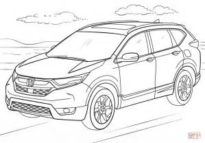 coloring pages honda cars honda cr v coloring page free printable coloring pages