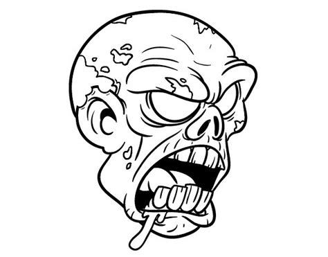 cartoon zombie tattoo flash awful cartoon outline zombie head tattoo design