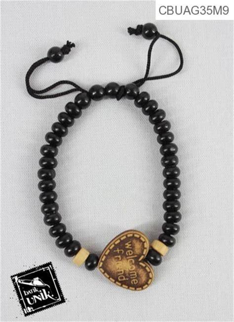 Gelang Tasbih Kombinasi 9 Kayu Model Tarik Ukuran 33 Biji 6 Mm gelang tali tarik tasbih warna hitam coklat gelang etnik