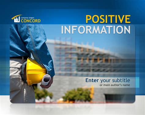 construction company powerpoint template 32591