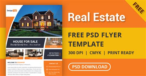 real estate flyers free templates free real estate flyer psd template designyep
