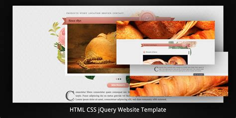 old bakery layered parallax html5 web template by