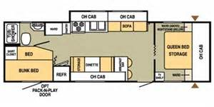 30 Ft Travel Trailer Floor Plans 2008 Starcraft Travel Xlt Series M 30qbs Floorplan