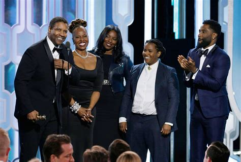 denzel washington and family denzel washington brings family onstage at the golden
