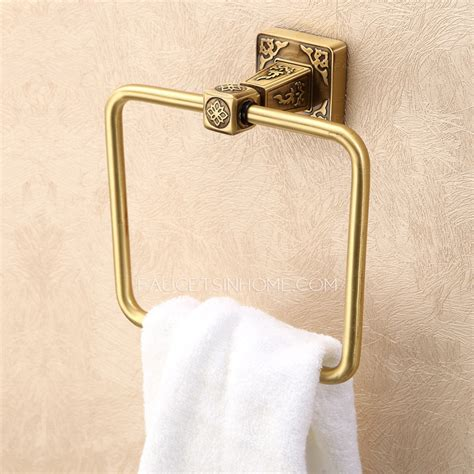 bathroom towel rings high end carved square shaped bathroom towel rings