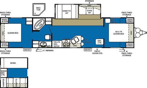 2 bedroom travel trailers 3 bedroom travel trailer floor plan