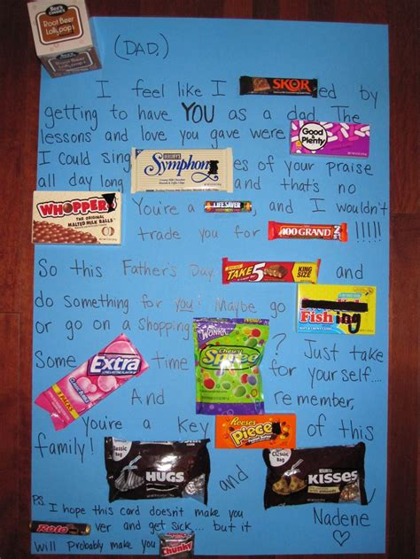 this is a poster card i made for my boyfriend for 9 best images about dads birthday on pinterest candy bar