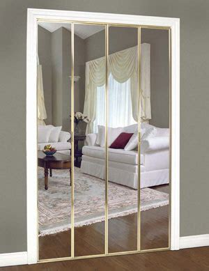 Mirrored Accordion Closet Doors Slimfold Bifold And Overlay Mirrored Doors Dunbarton Corporation